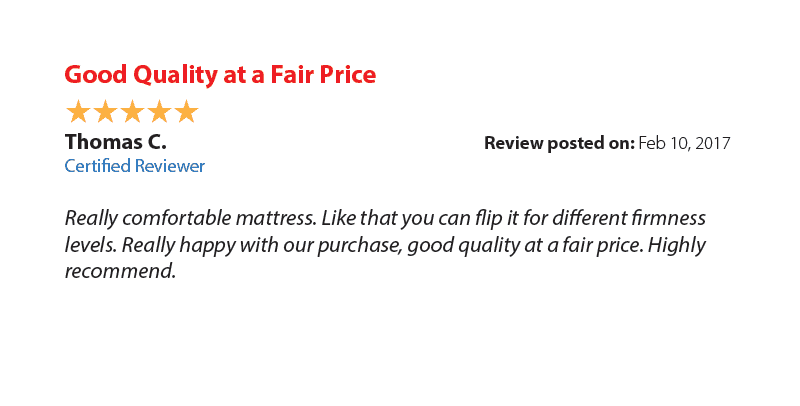 Good quality, fair price